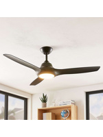 Thumbnail of Ceiling fan black incl. LED and remote control - Aila