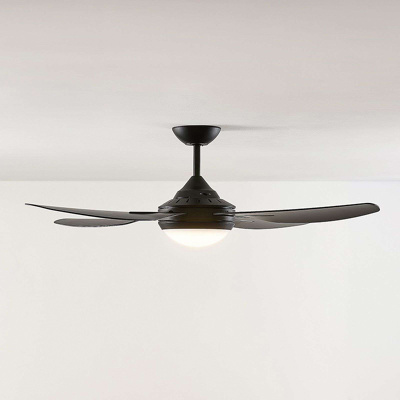 Image of Ceiling fan black incl. LED and remote control - Inja
