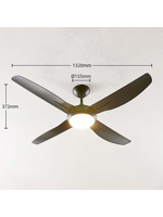 Thumbnail of Ceiling fan black incl. LED and remote control - Inja