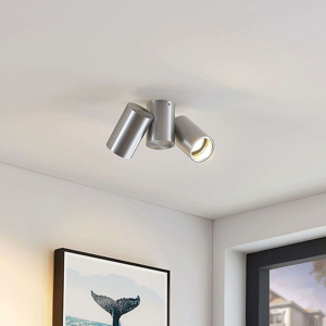 Image of Design ceiling lamp silver 2-lights - Gesina