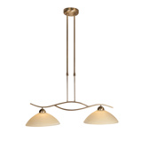 Image ofClassic hanging lamp bronze with sliding rod 2-light - Corsaire