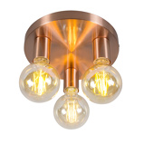 Εικόνα τουArt Deco Ceiling Lamp Copper Facil 3