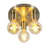 Εικόνα τουArt Deco Ceiling Lamp Gold Facil 3