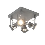 Imagine dinAnthracite industrial spotlight 4 way rotatable and tiltable Suplux