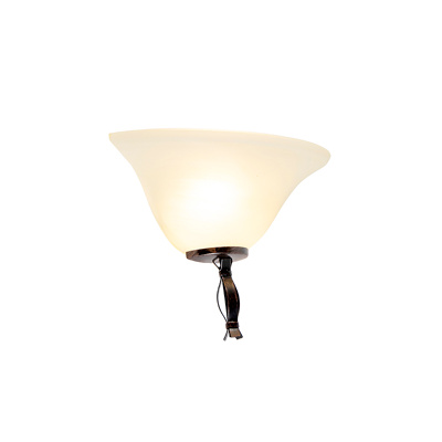 Image of Classic wall lamp brown with beige glass - Pirata