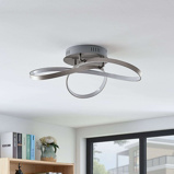 Image ofModern ceiling lamp aluminum incl. LED and dimmer - Saliha