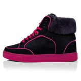 Afbeelding vanRoyaums Ace High Pony Black/Pink. Maat 38 zwarte dames sneakers