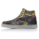 Afbeelding vanRoyaums Ace Multicolor High Python. Maat 42.5 grijze heren sneakers