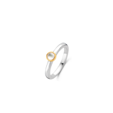 Abbildung vonTI SENTO Milano Ring Silver gold plated Mother of pearl Damen 1868MW