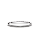 Image ofTI SENTO Milano Bracelet Silver Silver With Black Plating 2907SI