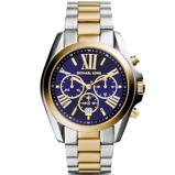 Afbeelding vanMichael Kors MK5976 Bradshaw Navy horloge herenhorloge Zilverkleur