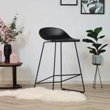 Abbildung vonBarhocker Simplistic schwarz skandinavisches Design 66 cm
