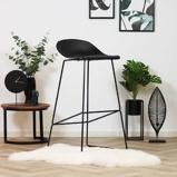 Abbildung vonBarhocker Simplistic schwarz skandinavisches Design 76 cm