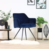 Abbildung vonEsszimmerstuhl Jessa Samt Luxury dunkelblau