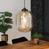 Abbildung vonHängelampe Globe 1 flammig modern Glas 45 cm