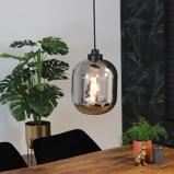 Abbildung vonHängelampe Reflex 1 flammig modern Glas 30 cm