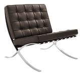Abbildung vonBarcelona Chair Premium Leder braun