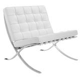 Abbildung vonBarcelona Chair Premium Leder weiß
