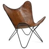Abbildung vonButterfly Chair Easy braun Leder