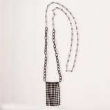 Imagine dinLong Chain Necklace Black Crystals