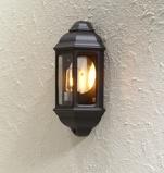 Afbeelding vanKonstmide klassieke buitenwandlamp CAGLIARI I, zwart, aluminium, glas, E27, 100 W, energie efficiëntie: A++, B: 18 cm, H: 36 cm