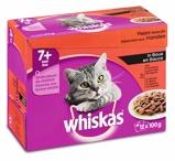 Afbeelding vanWhiskas Kattenvoer Senior Vlees Selectie in Saus maaltijdzakjes multipack