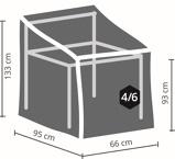 Afbeelding vanOutdoorcovers Premium beschermhoes stapelstoelen 95 cm