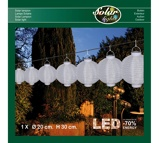 Afbeelding vanAnna's Collection Solar lampion wit 20 cm led warm