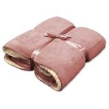 Afbeelding vanUnique Living Coby fleece plaid 100% polyester 130x160 cm Roze