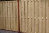 Afbeelding vanComplete geimpregneerde schutting met hardhouten palen, per strekkende meter