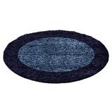 Afbeelding vanRond Hoogpolig vloerkleed Edge Blauw 120cm Adana Carpets