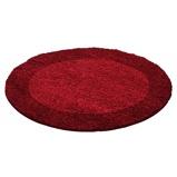 Afbeelding vanRond Hoogpolig vloerkleed Edge Rood Ø 120cm Adana Carpets