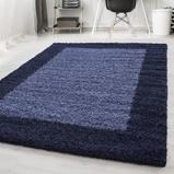 Afbeelding vanHoogpolig vloerkleed Edge Blauw 60x110cm Adana Carpets