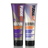 Afbeelding vanFudge Clean Blonde Damage Rewind Violet Duo Pack 2X2 250ml + conditioner