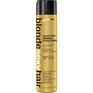 Afbeelding van 10% code LIEFDE10 Sexyhair Blondebombshell Blonde Shampoo 300 Ml