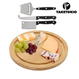 Afbeelding vanTakeTokio Bamboe Kaasplank en Messenset (4 stuks)