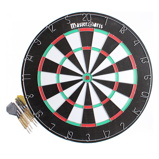 Afbeelding vanPrivate Masterdarts Dartbord 45 cm dubbelzijdig hout met 6 darts