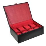 Imagine dinDulwich Design Horlogebox 8 pcs Zwart Rood