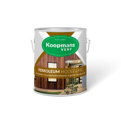 Afbeelding van Koopmans Perkoleum kleurloze beits met UV beschermer hoogglans, 2,5L