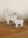 Afbeelding vanSmall Foot decoratie eland wit hout 17 cm