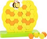 Afbeelding vanSmall Foot Evenwichtstoren Honingraat hout geel 21 x 20 cm