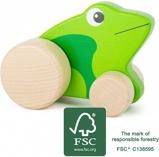 Afbeelding vanSmall Foot houten duwkikker groen 10 cm