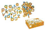Afbeelding vanDam Scratch Magneten Abc: safari 60 stuks