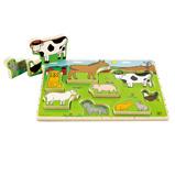 Afbeelding vanHape Boerderijdieren vormenpuzzel 8 stukjes