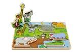 Afbeelding vanHape Wilde Dieren vormenpuzzel 8 stukjes