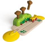 Afbeelding vanHape houten spoorwegset met springende apen