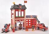 Afbeelding vanHape Houten brandweerkazerne 48 x 60 cm rood