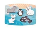 Afbeelding vanHape houten vormenpuzzel Polar Animal Tactile junior 6 delig