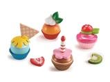 Afbeelding vanHape cupcakes speelgoedeten 18 delig