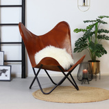 Image of Butterfly Chair Vice cognac Leder